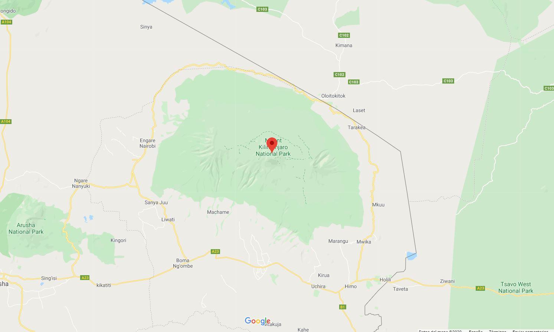 Mapa kilimanjaro tanzania