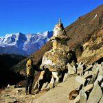 Región Everest. Estupa en Pangboche 3930m