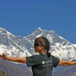 Región Everest. Everest 8848m y Lhotse 8516m desde el museo de Namche 3440m
