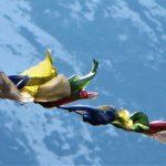 Región Everest. Prayer flag. banderas de rezo budistas