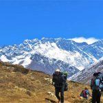 Región Everest. Vistas de Everest 8848m desde Orsho 4190m