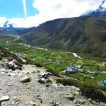 Región Everest. Vistas de Pheriche 4240m desde Thokla 4620m