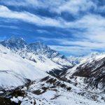 Región Everest. vistas desde Nangkar Tshang 5616m (día de aclimatación en Dingboche) al sur del valle con Tamserkhu 6618m al fondo