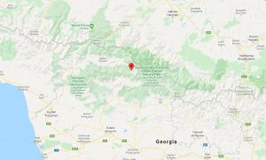 Mapa USHGULI svaneti georgia