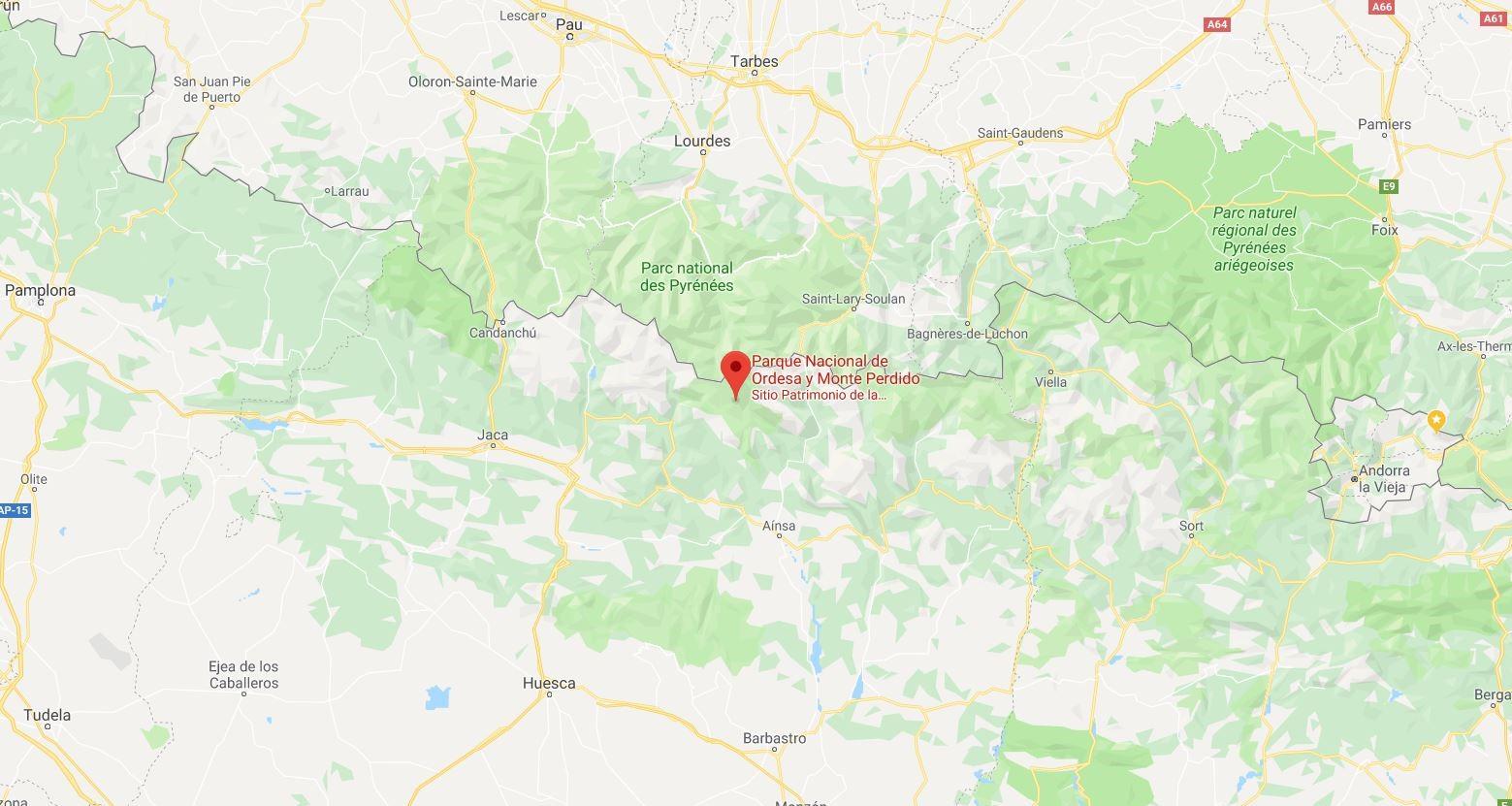 Ordesa y Monte Perdido Mapa