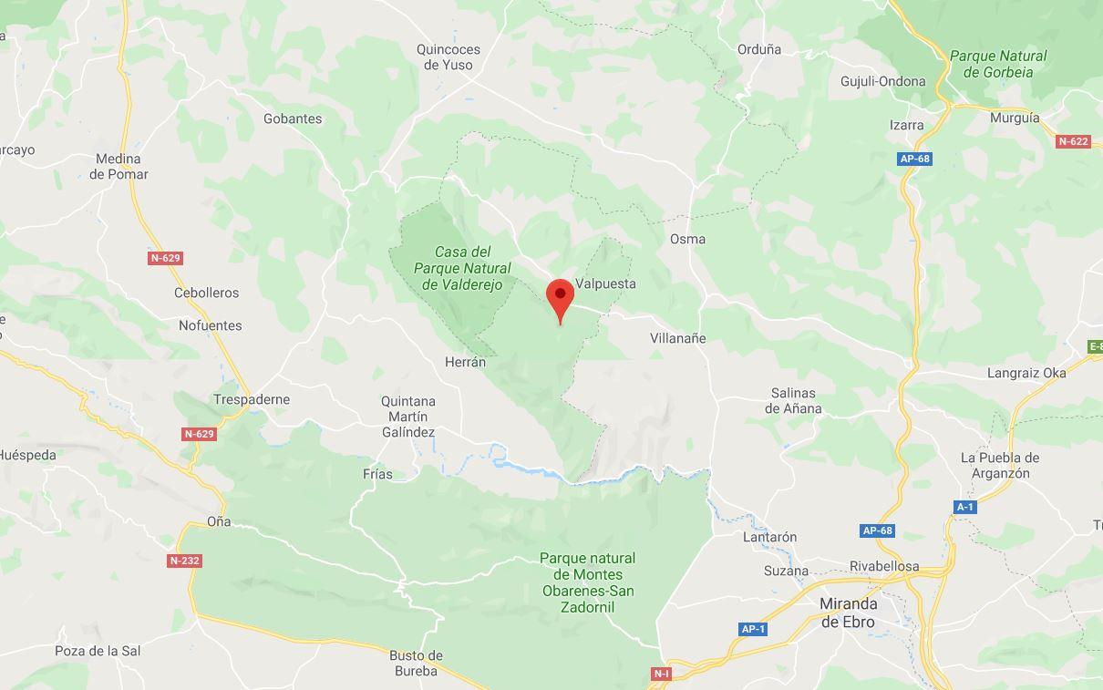 Mapa Arista Peña KArria