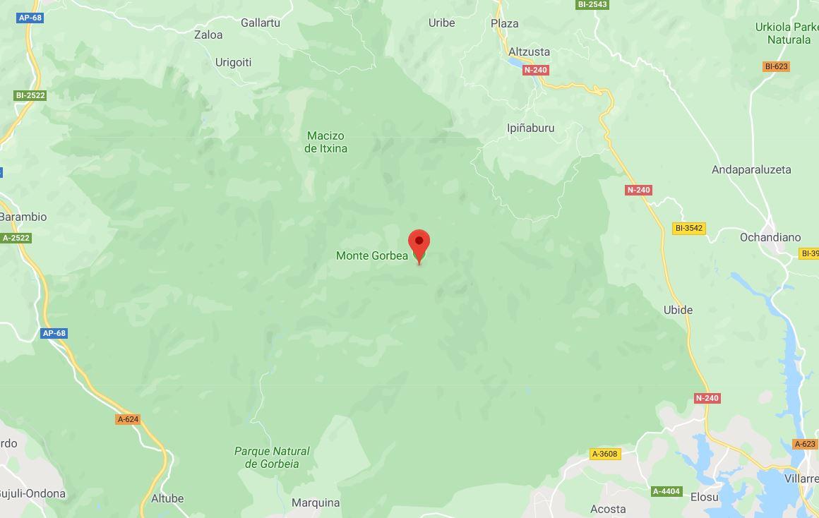 Mapa monte Gorbea