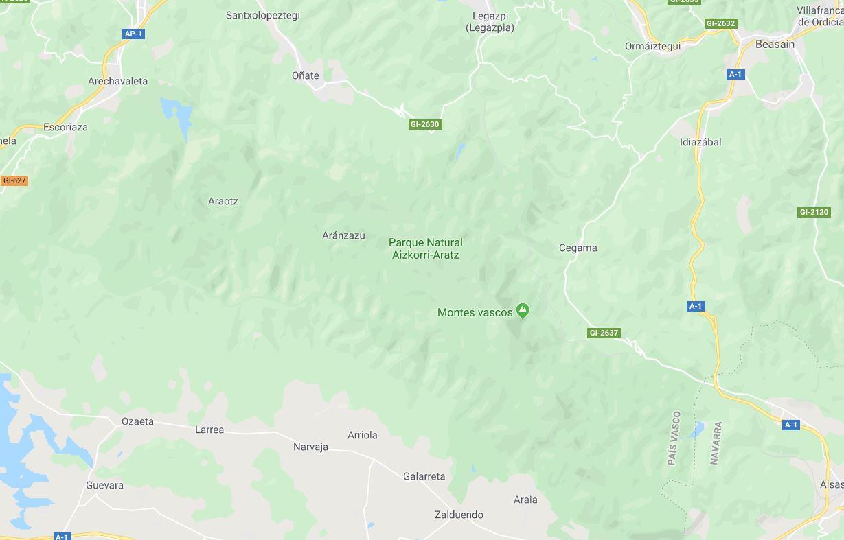 Mapa Parque Natural Aizkorri