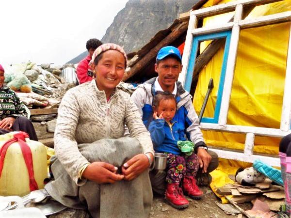 Dawa y su familia Langtang