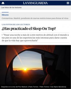 Noticia Sleep on Top. La Vanguardia