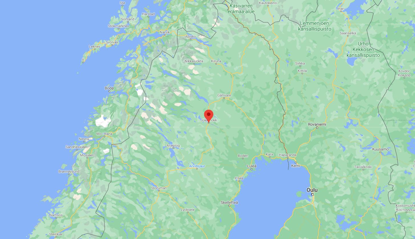 Mapa Jokkmokk - Laponia - Suecia