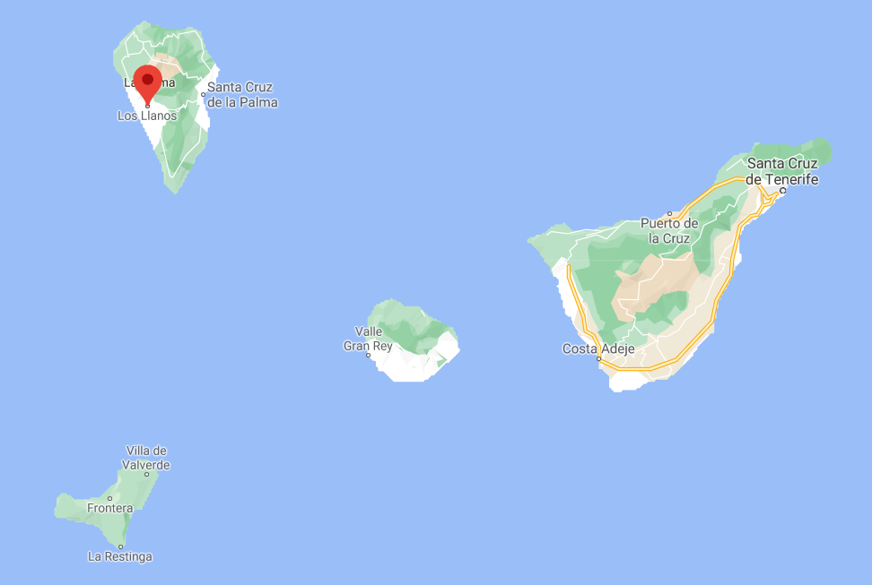 Mapa La Palma, Canarias